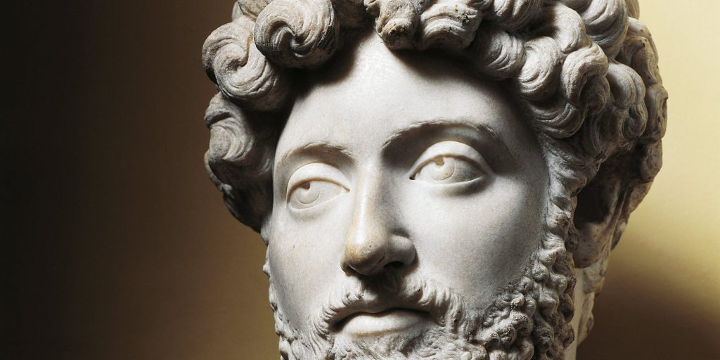 UNSPECIFIED - CIRCA 1900:  Roman civilization, 2nd century A.D. Bust of Emperor Marcus Aurelius.  (Photo By DEA / G. NIMATALLAH/De Agostini/Getty Images)